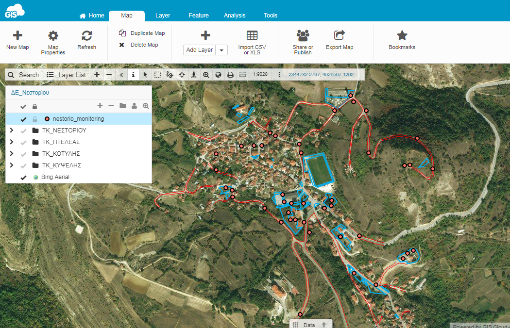 Map Editor GIS Cloud