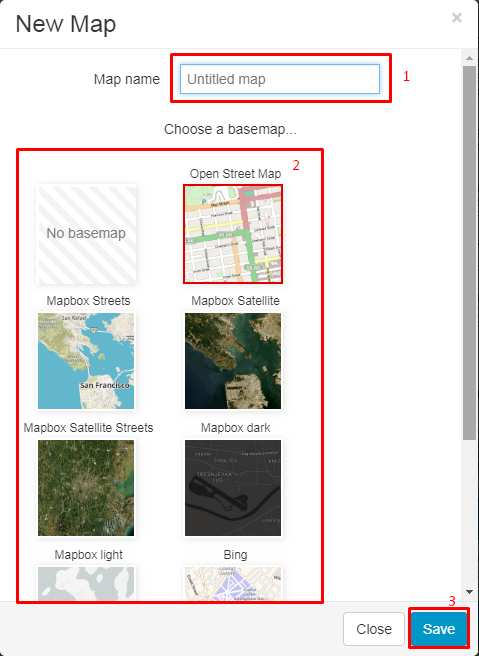 create new map in Map Editor