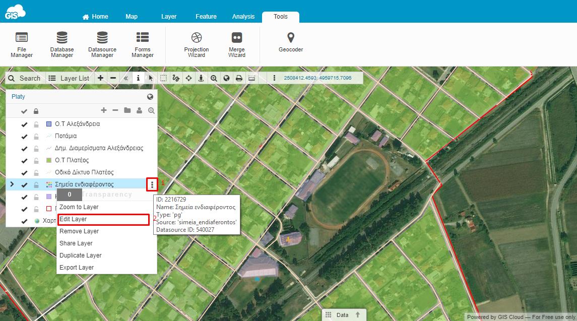 Map Editor Edit Layer
