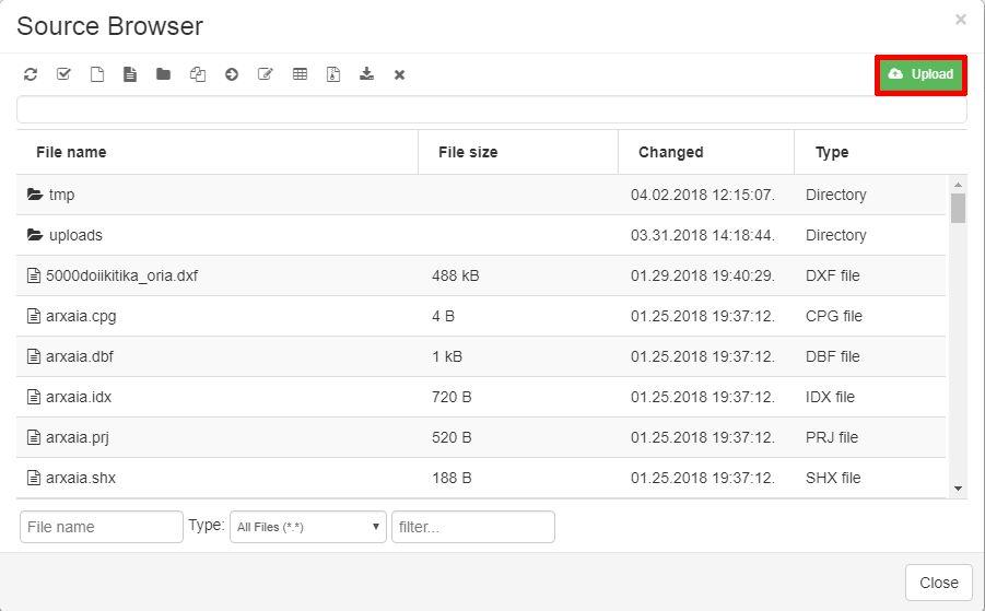 Map Editor Upload Data