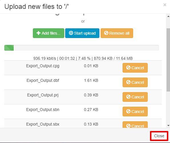 Map Editor Data Upload Panel